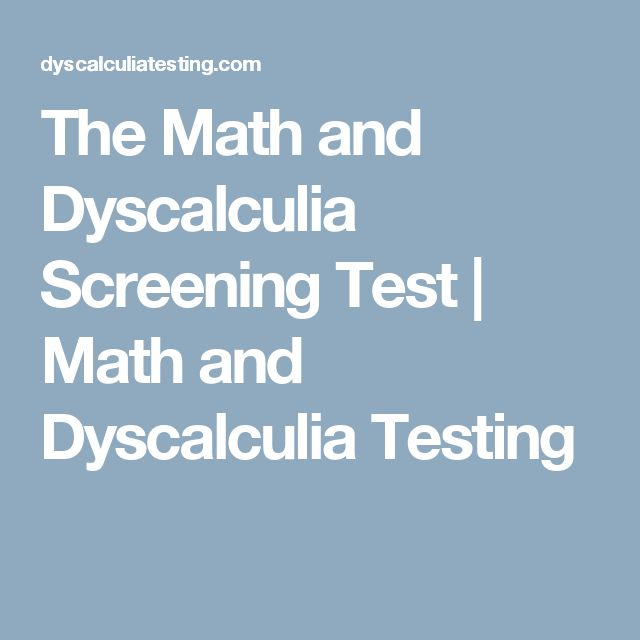 The Math and Dyscalculia Screening Test | Math and Dyscalculia Testing