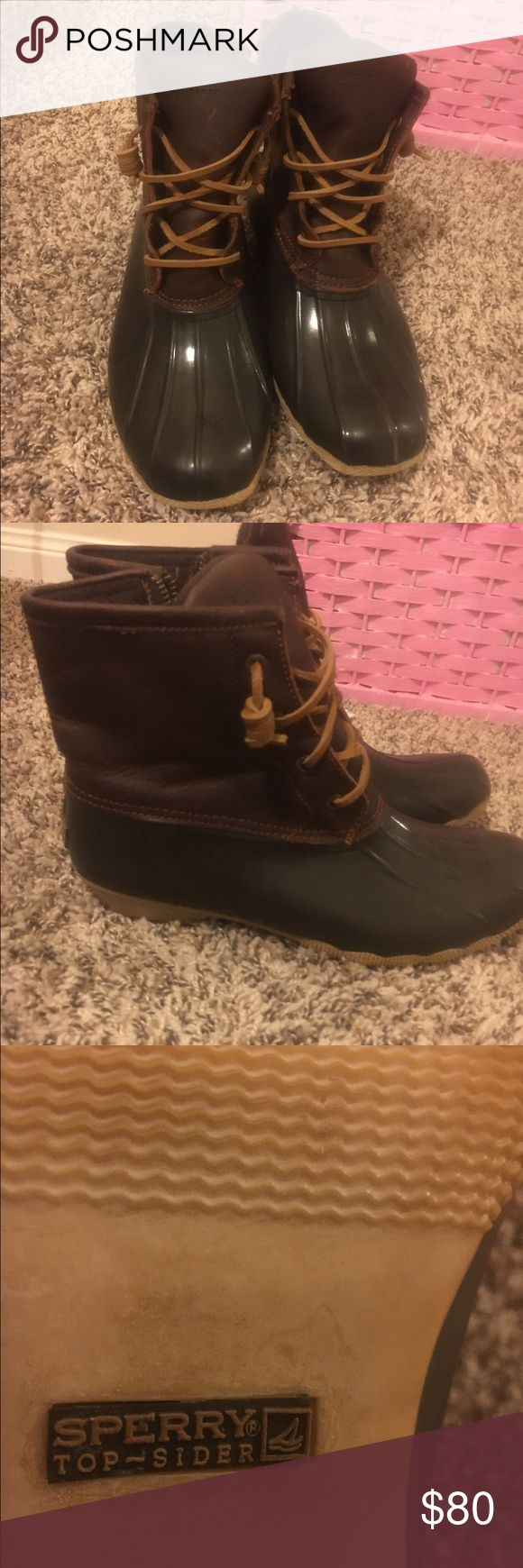 Sperry saltwater duck boots Perfect condition! Never wear them anymore. A little snug Sperry Top-Sider Shoes Winter & Rain Boots