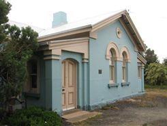 Turraburra Medical Clinci. Blue stone and brick building 1864