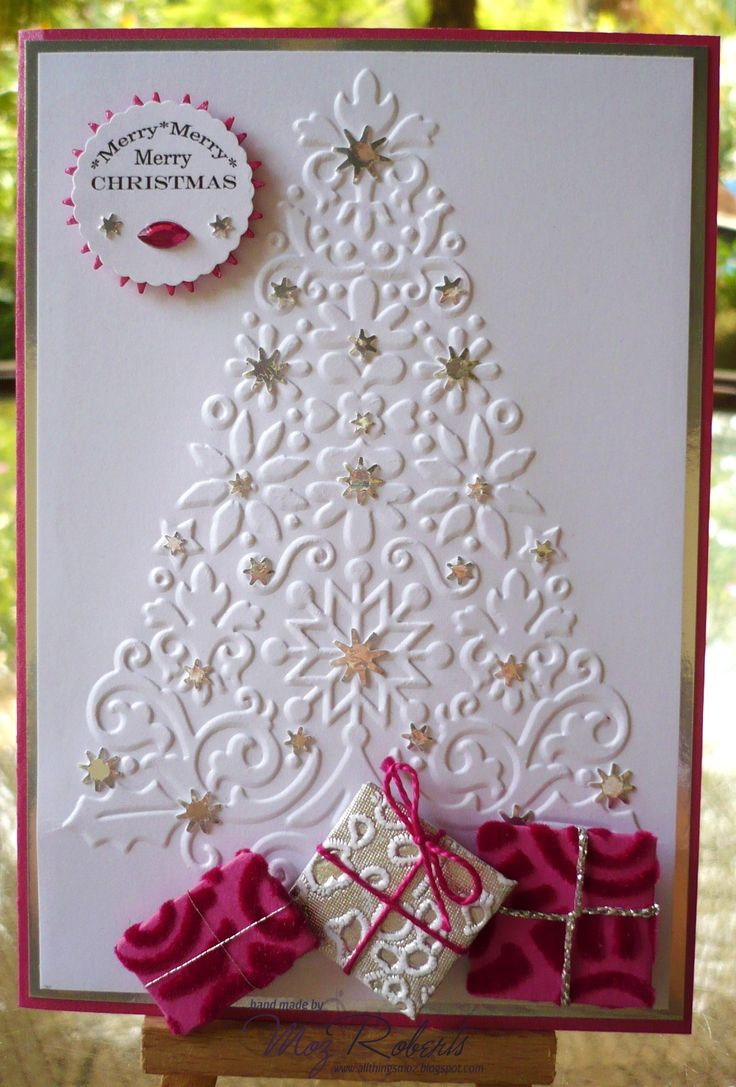 Christmas Tree Stamps For Card Making