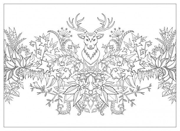 Zauberwald Farbung This Year Coloring Pages Malvorlagen Mandala Ausmalen Zenmalerei