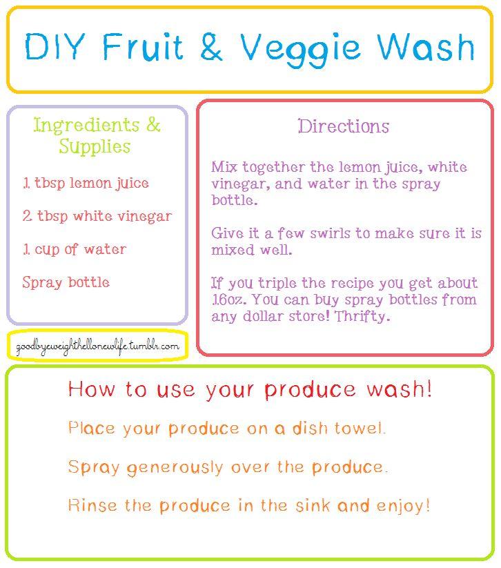 Fruit & Veggie wash - keeps fruit fresher for longer