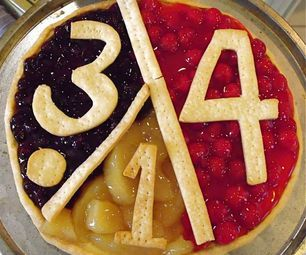 Quick and Easy Pie Chart Pi Day Fruit Pizza Pie...