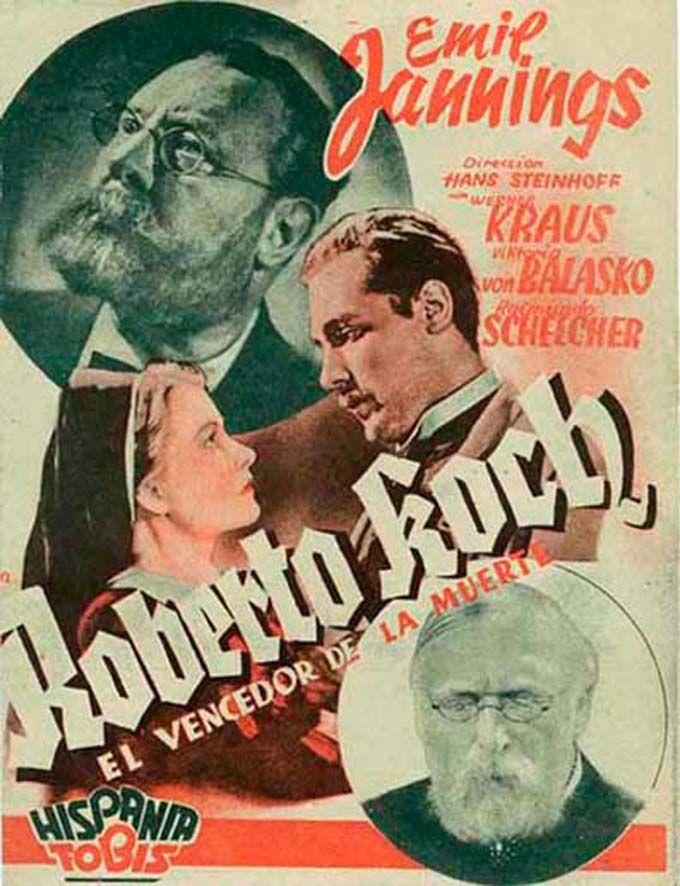"""Roberto Koch, el vencedor de la muerte (1939) """"Robert Koch, der Bekämpfer des Todes"""" de Hans Steinhoff - tt0031868"""