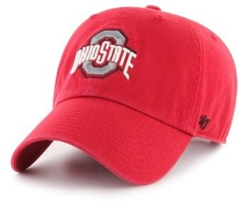Men's '47 Clean Up Ohio State Baseball Cap - Red  #homeoftheheartland #ohio #Buckeyes #beauty #ad #columbus #ohiostate