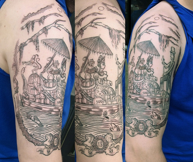 Tattoo by duke riley participated in his those about to for East river tattoo price