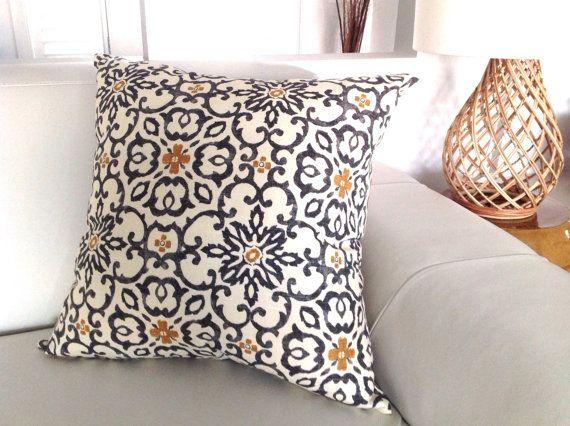 Moroccan Cushions Grey, Ochre, Ivory Bohemian Pillows Indigo Cushions, Indigo Pillows, Teal Pillows, Teal Cushions. Designer Pillows $35.00 - Etsy