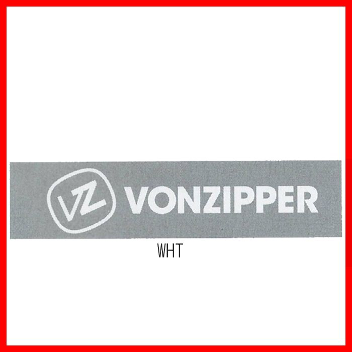 メルカリ商品 ボンジッパー(VonZipper)カッティングロゴマークステッカーWHT メルカリ