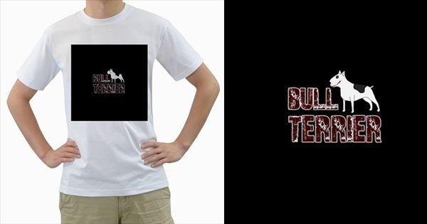 Bull+Terrier++Men's+T+Shirt+(white)++Men's+T-Shirt+(White)+