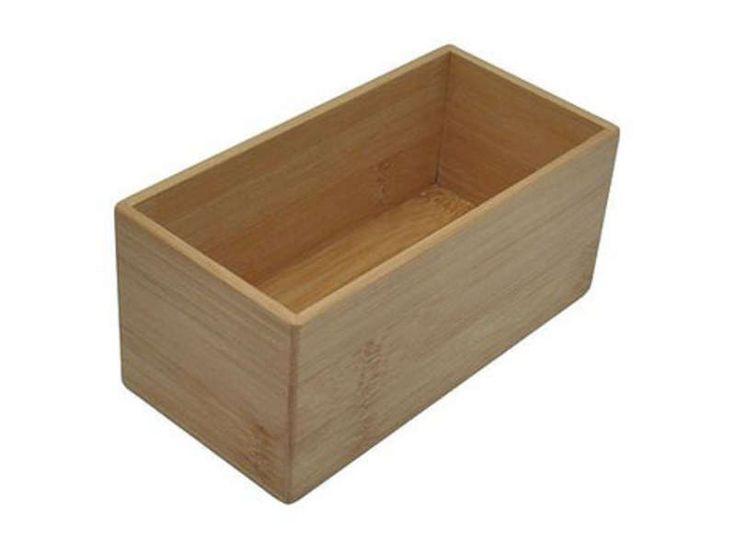 Boite de rangement rectangulaire petit mod le bambou for Accessoires salle de bain et wc