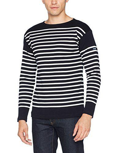 Armor Lux Mariniere Amiral, T-Shirt Homme: Marinière à large encolure ras du cou, manches longues coton épais Cet article Armor Lux…