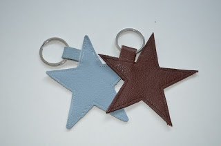 Petits Pirates: Ster sleutelhanger, leather star keychain.