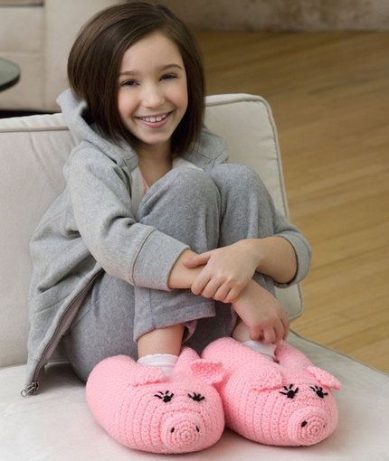 Pudgy Piggy Slippers FREE PATTERN
