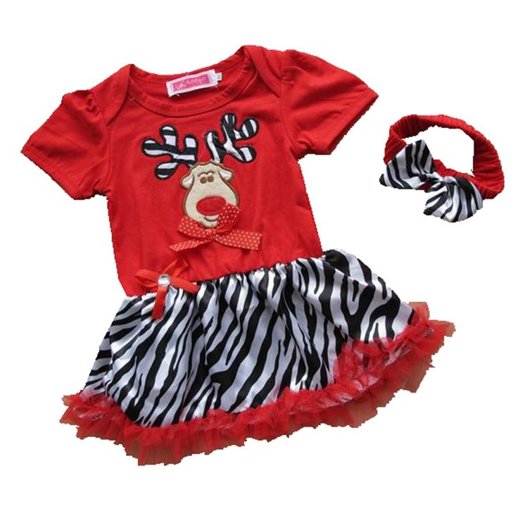 >> Click to Buy << Red Nose Reindeer Rudolf Christmas Girls Dress Headband Fantasia Infantil Vestidos Kids Clothes Toddler Girl Christmas Outfits #Affiliate