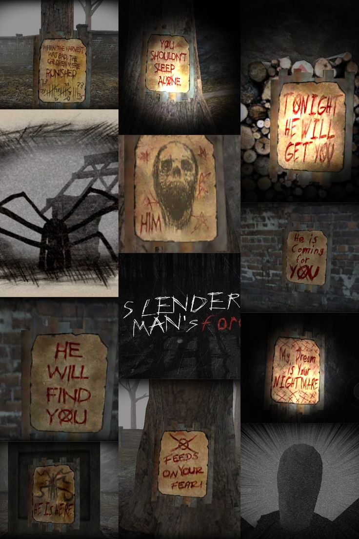 Slender mans all 8 pages