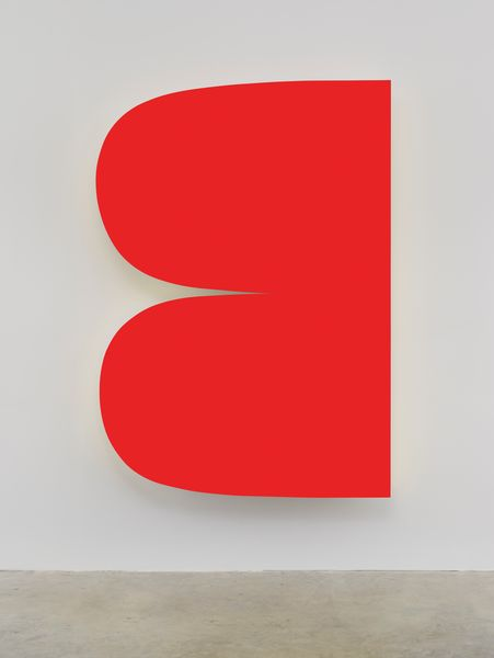 Ellsworth Kelly, Red Curves 2014 Painted aluminum 90 x 63 1/2 inches; 229 x 161 cm