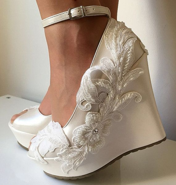 17 best ideas about bridal wedges on white