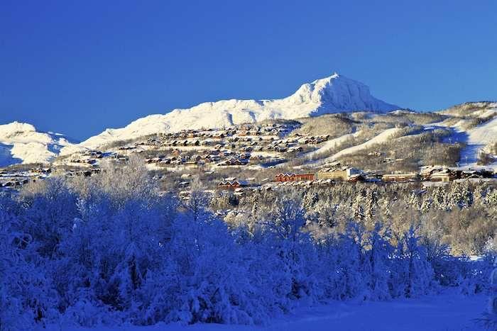 View over the village of Beitostolen