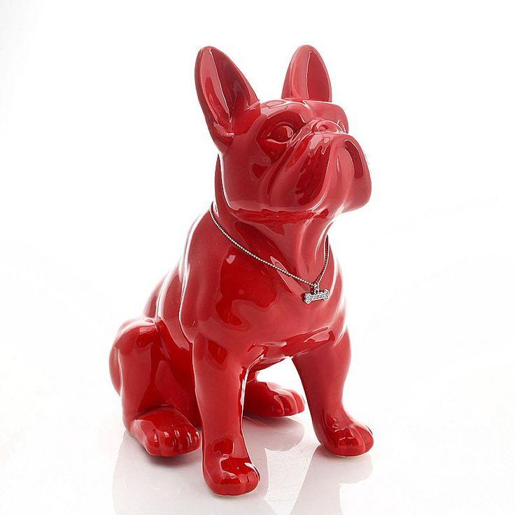 Benzara Charming Poly Stone Bulldog Statue * To view