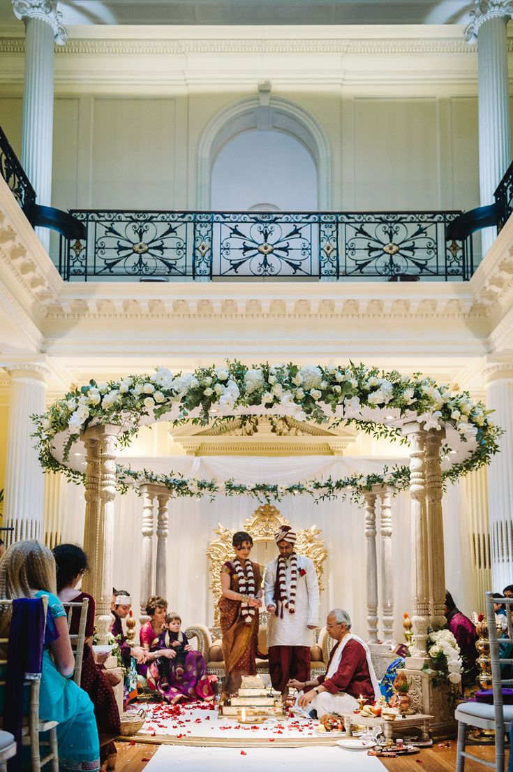 A Beautiful Indian and English Fusion Wedding With A Hindu Ceremony At The Olde Bell In Hurley And Hedsor House By Ann-Kathrin Koch Photography. | Rock My Wedding