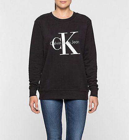 logo sweatshirt calvin klein outfit mode pinterest. Black Bedroom Furniture Sets. Home Design Ideas