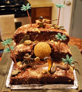 Indiana Jones Cake, Homemade: Indiana Jones Cake, Homemade!!