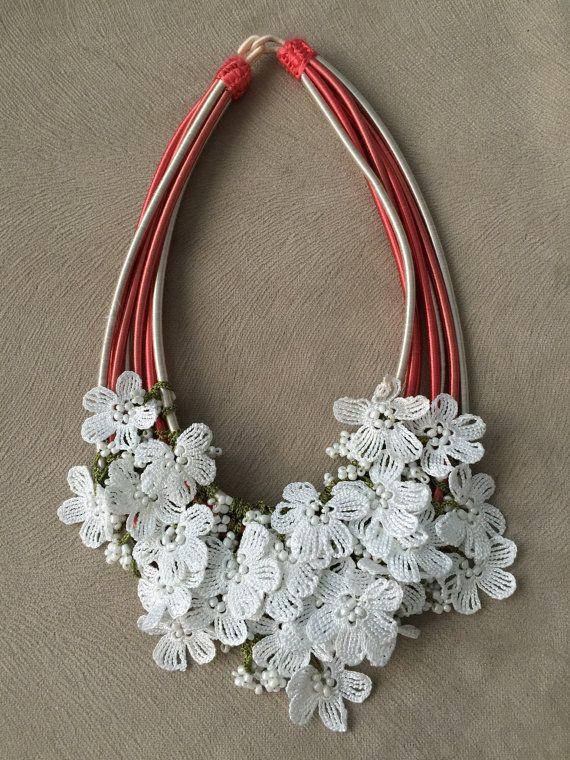 Necklace whit oya by byfunda on Etsy