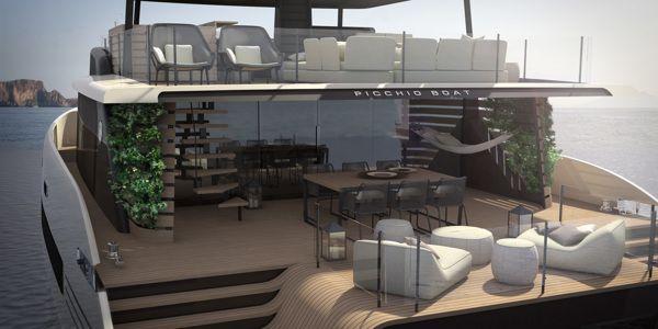 3d Catamaran - Picchio Boat on Behance