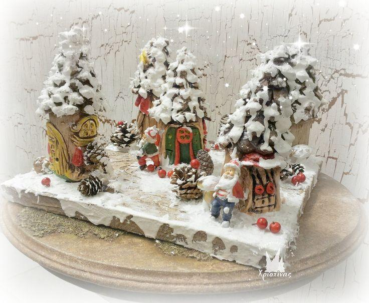 Το χιονισμένο χωριό του Αί Βασίλη με πηλό και πάστες!!