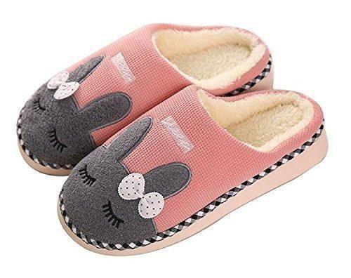 Oferta: 6.9€. Comprar Ofertas de Minetom Mujer Hombres Otoño Invierno Zapatillas De Estar Por Casa Suave Slippers Dibujos Animados Conejo Pareja Zapatos Rosa barato. ¡Mira las ofertas!