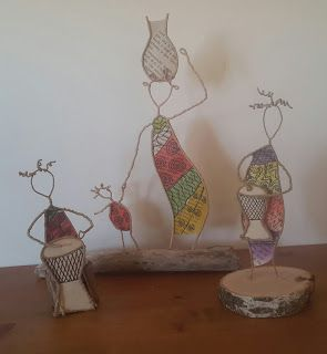 sculptures en papier et fil: scartolina