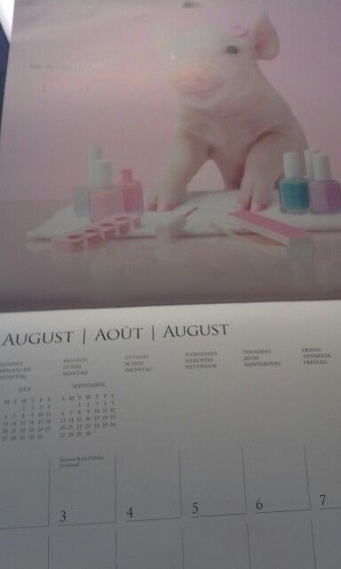 August calender picture