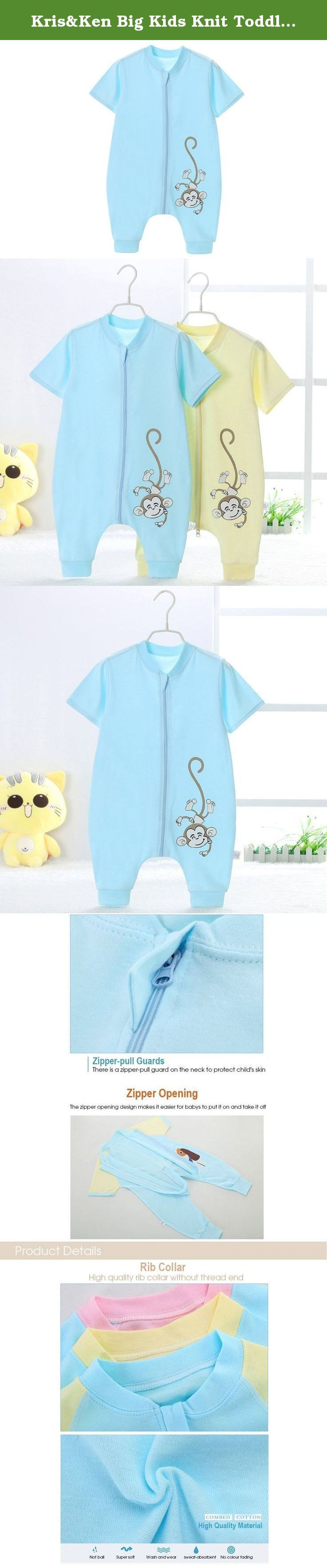 Kris&Ken Big Kids Knit Toddler Pajamas Unisex Baby's Sleepwear Blanket Sleeper 2-4T. Kris&Ken Big Kids Knit Toddler Pajamas Unisex Baby's Sleepwear Blanket Sleeper 2-4T Materials : - Filled with high quality cotton which is breathable and has good elasticity and heat insulating ability. - No pilling and deformation. Also the surface is soft and smooth which is comfortable to wear. Suitable for Spring,Summer and Fall : -The material isn't thick and it's very breathable so suitable for…