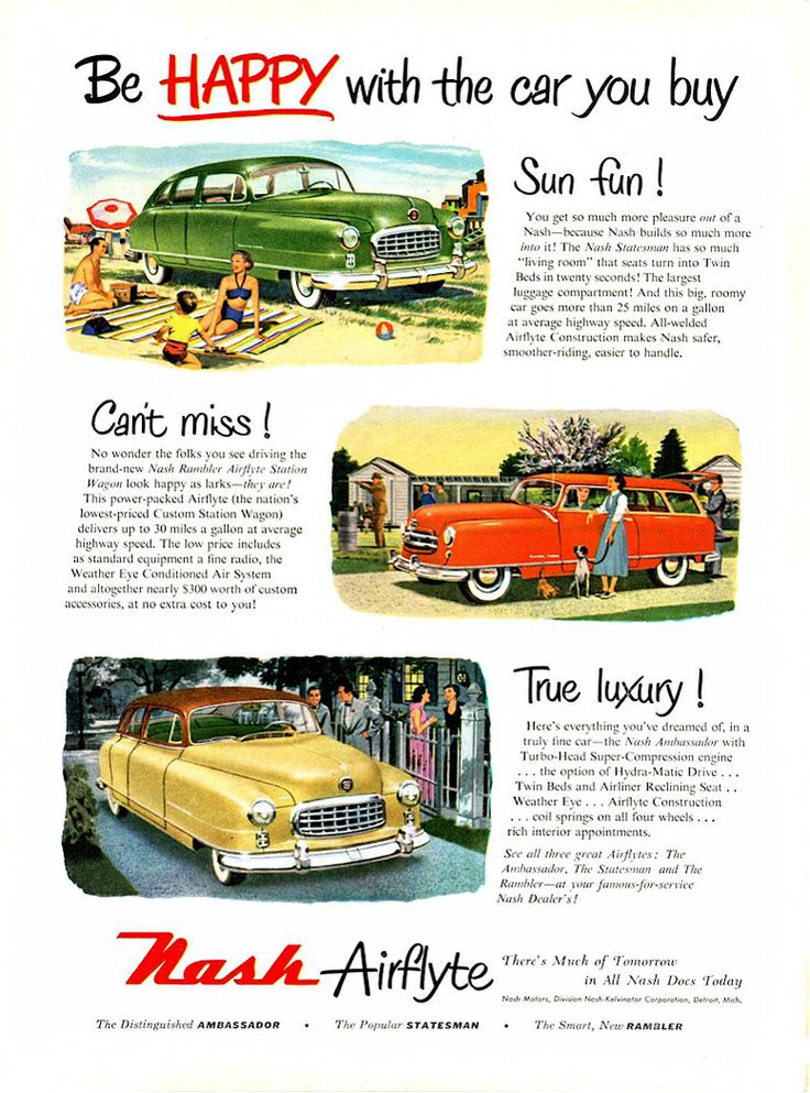 319 best None So New As NASH! images on Pinterest   Vintage cars ...