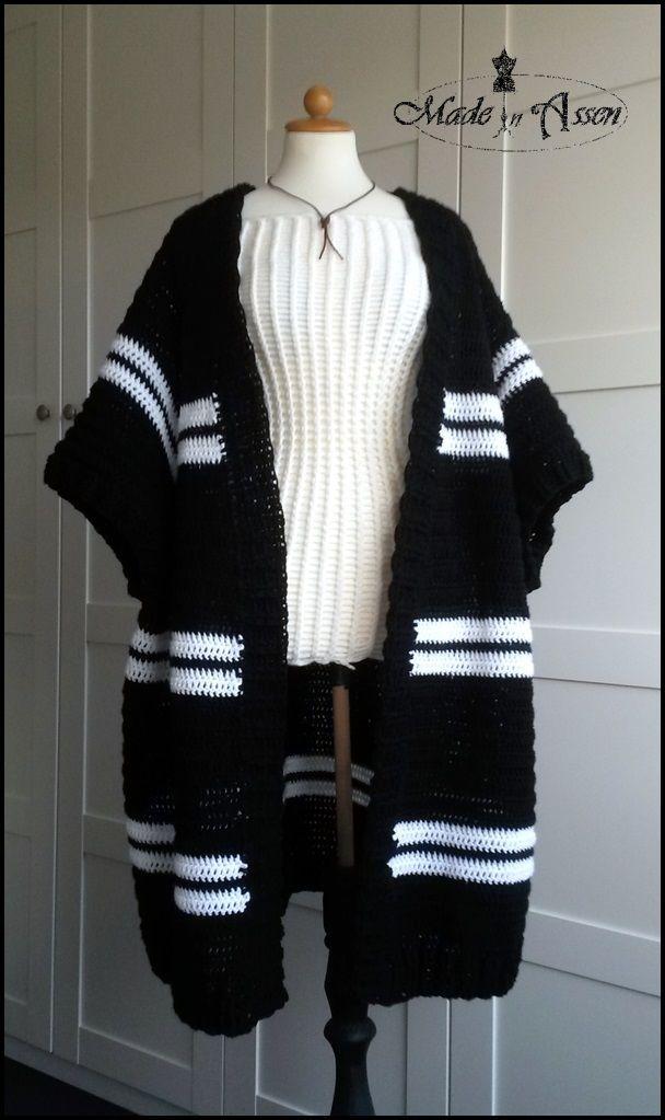 Zillas Basis Topdown Cardigan Vesten Vestjes Haken Made In