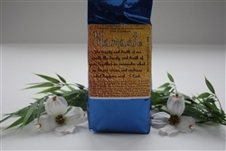 NAMASTE     Bath Salts (750 g.)    Solar Salt with the purest essential oils of Balsam Tangerine Petitgrain Ho Wood Myrtle Lavender and rosewood.