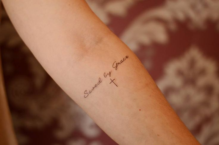 Tattoo Saved by Grace