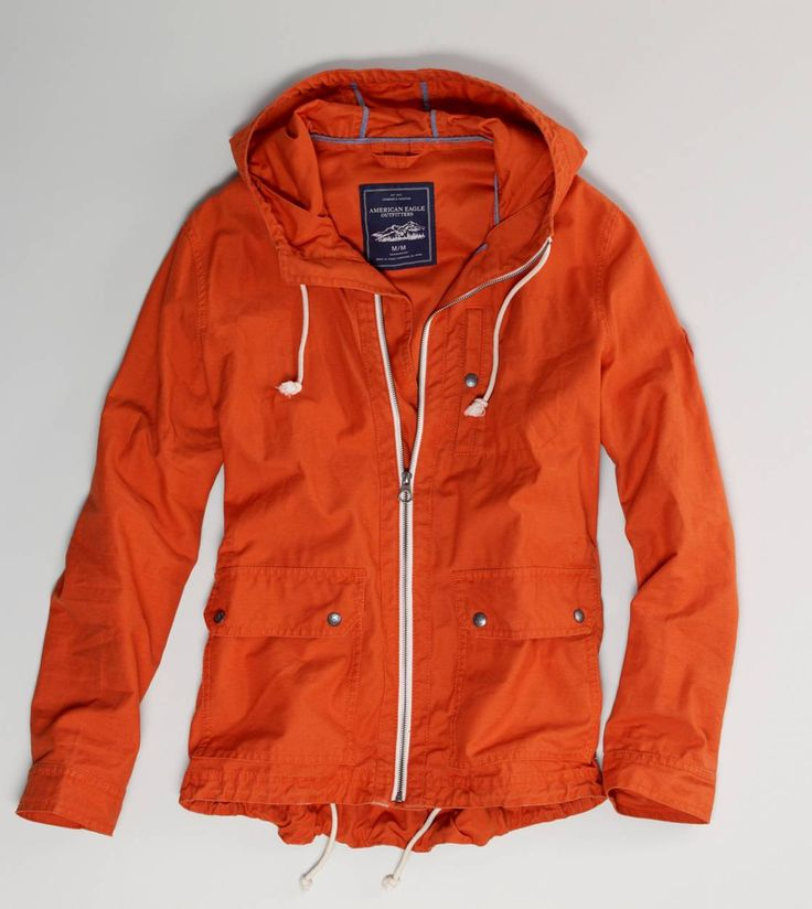 Orange wind breaker