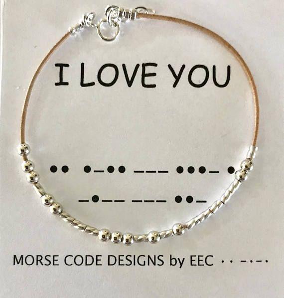 I Love You Morse Code Bracelet Leather Morse Code Bracelet Etsy In 2020 Diy Jewelry For Beginners Morse Code Bracelet Jewelry Diy Bracelets