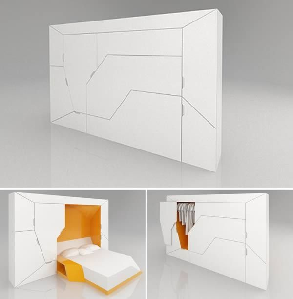 39 best Wall Beds for the home images on Pinterest 8 Coolest Murphy Beds  Bedroom In A BoxBedroom  . Bedroom In A Box. Home Design Ideas