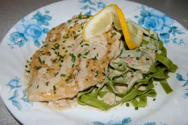 Champagne Chicken from Food.com:   Very elegant, and very easy! It's a family favorite for special occasions and even when it's not special occasion, this recipe makes any occasion special!