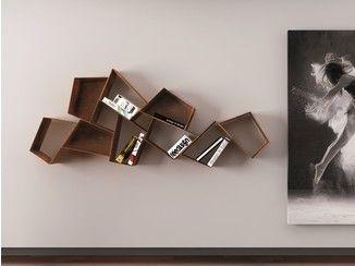 Drijvende metalen boekenkast W SU LINE - Ronda Ontwerp