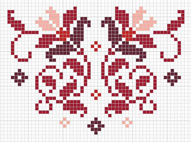 Patroon tasje van 1915 (zelf patroon uitgewerkt in variatie rood)