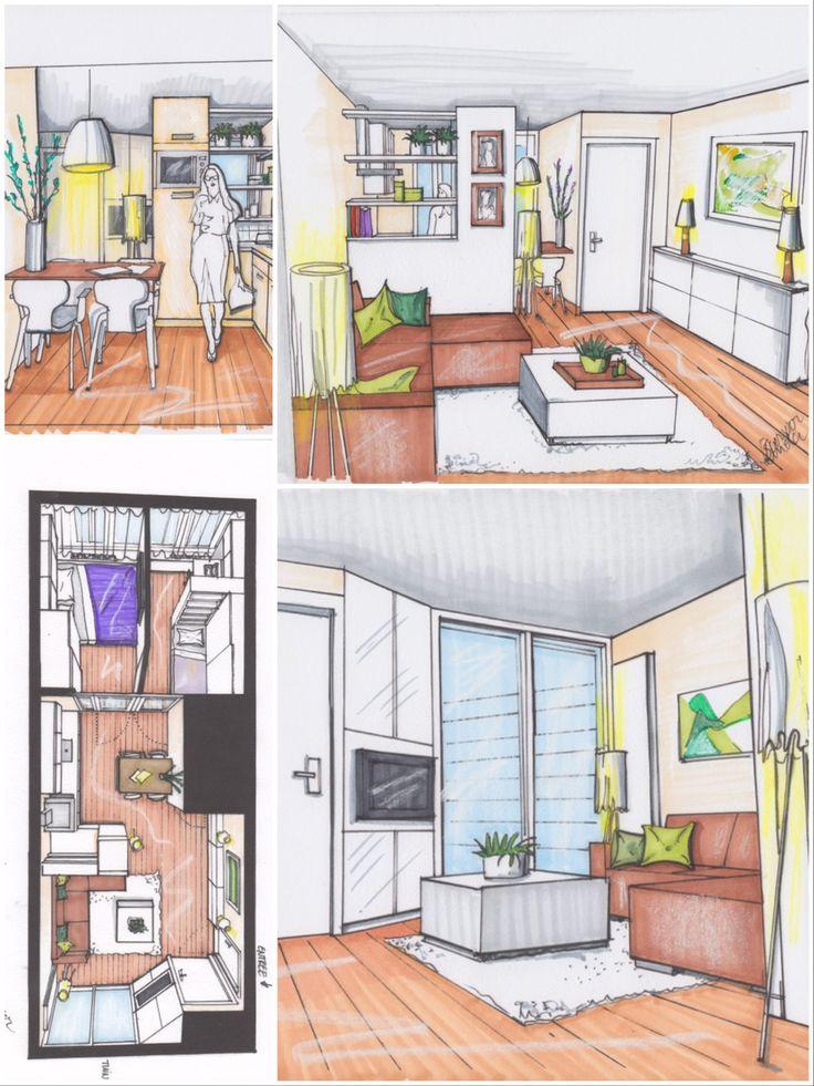 1000 idee n over klein appartement ontwerp op pinterest klein appartement keuken studio - Decoratie klein appartement ...
