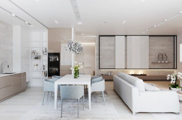 A Chic Pair Of Interiors With Natural Neutral Design