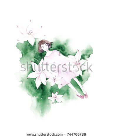 @knyshksenya #illustration #illustrator #ksenyaknysh #watercolor #girl #flowers #nature #illustration #art #mothersday #valentine