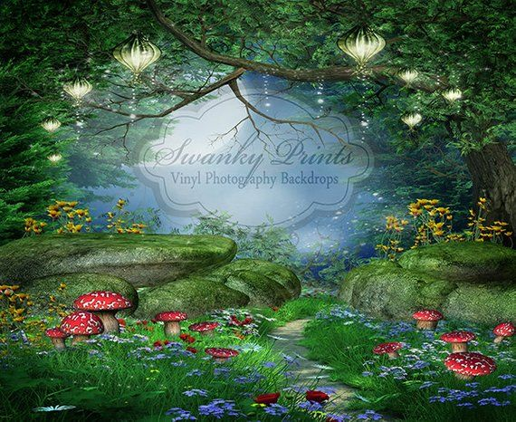 8x12 FT Mystic Vinyl Photography Background Backdrops,Whimsical Forest Reflection in Lake Deep Dark Mystical Artsy Surreal Illustration Background Newborn Baby Portrait Photo Studio Photobooth Props