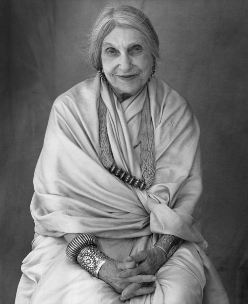 """Archetypal wise woman artist Beatrice Wood.   Her most productive years were from age 80 to 105. """"I owe it all to art books, chocolate and young men."""""""