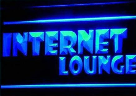 Internet Lounge Cafe Shop Access Neon Light Sign