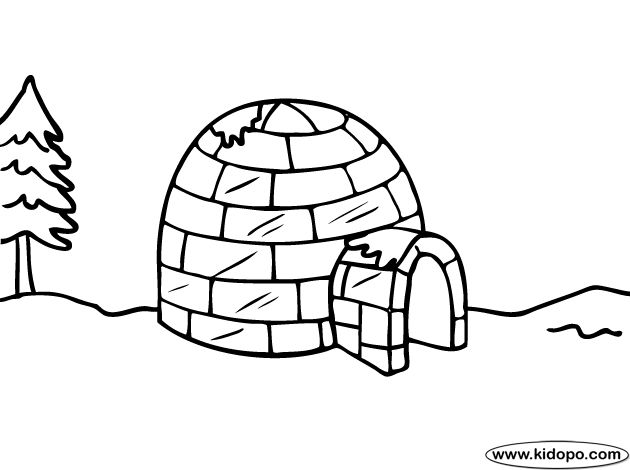 igloo coloring pages teachers - photo#3